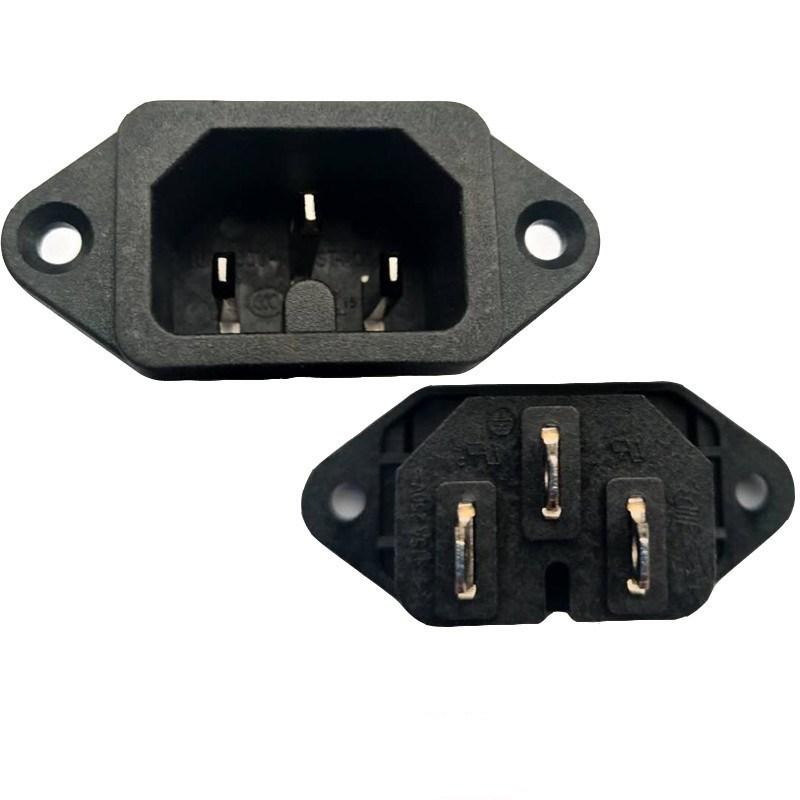 锁式热态认证品字插座 ST-A08-002L-A-Y2