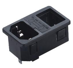 三合一插座 ST-A01-004K-JY-015-D